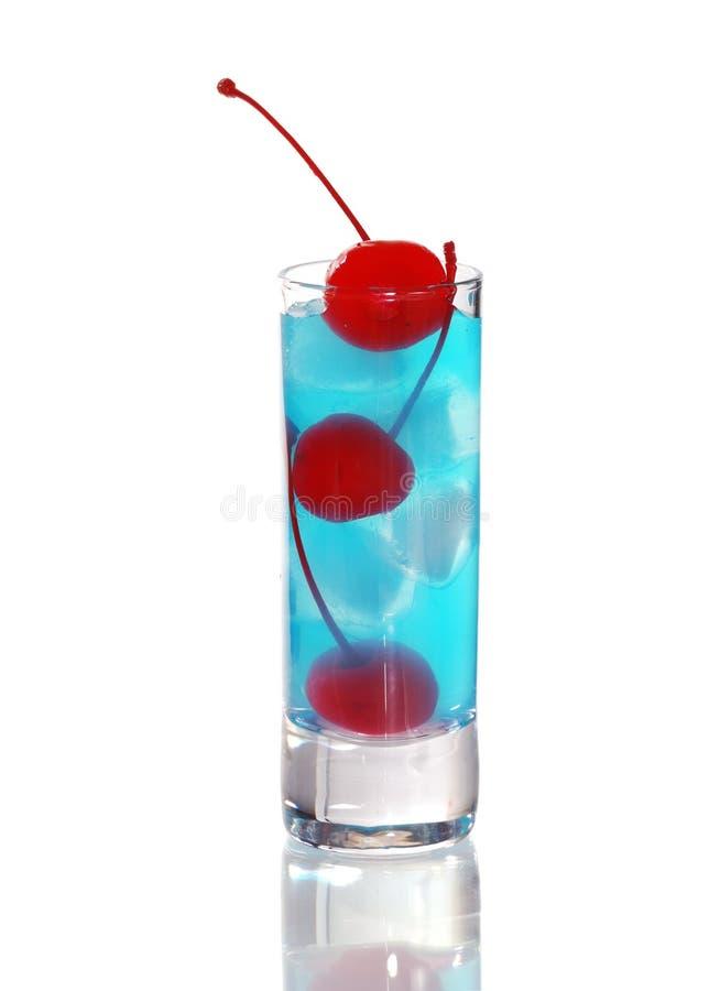 Cocktail bleu du Curaçao photographie stock