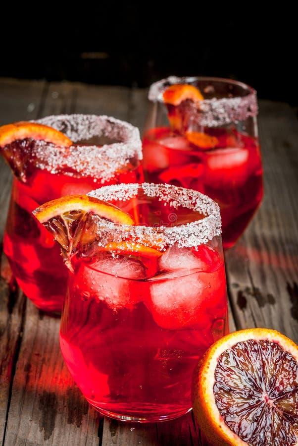Cocktail bloody orange margarita stock photo