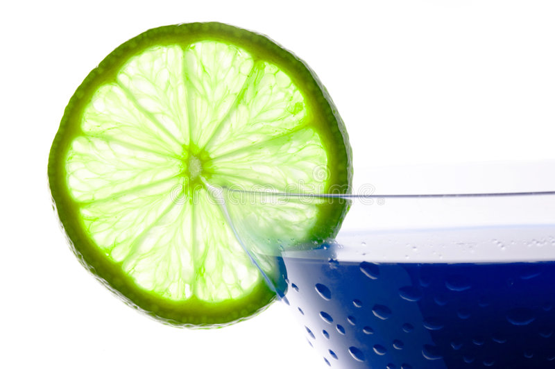 Download Cocktail with blue curacao stock image. Image of umbrella - 1926741