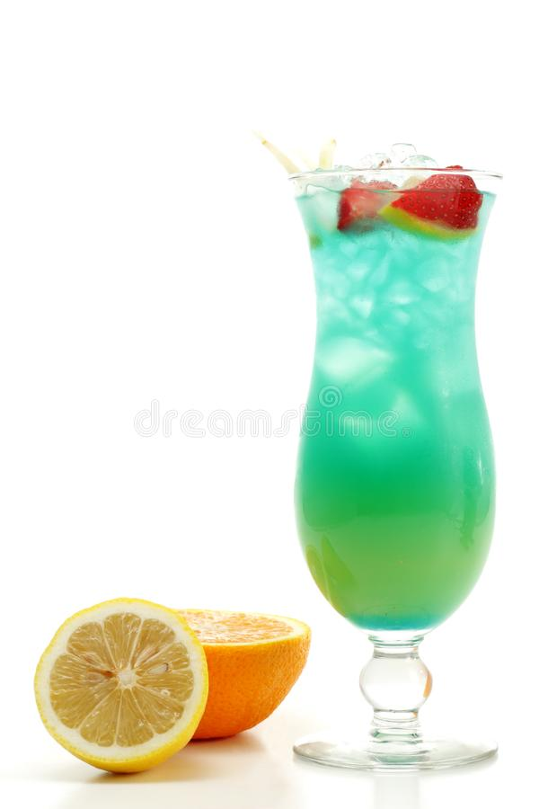Cocktail - Blue Hawaii stock images