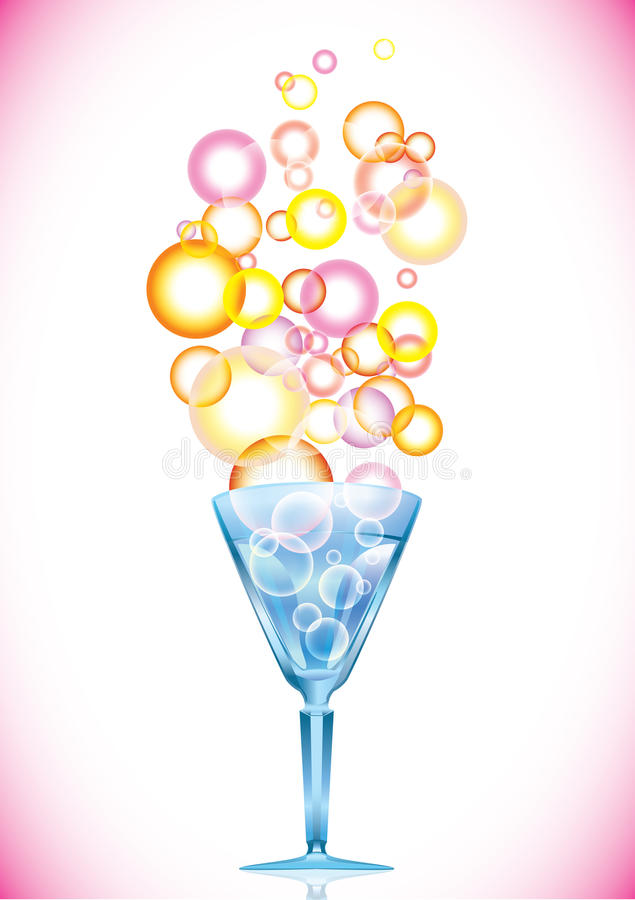 Cocktail with bubbles
