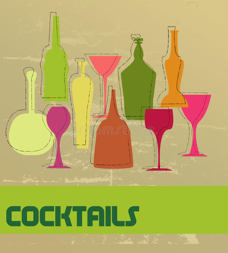 cocktail card royalty free illustration