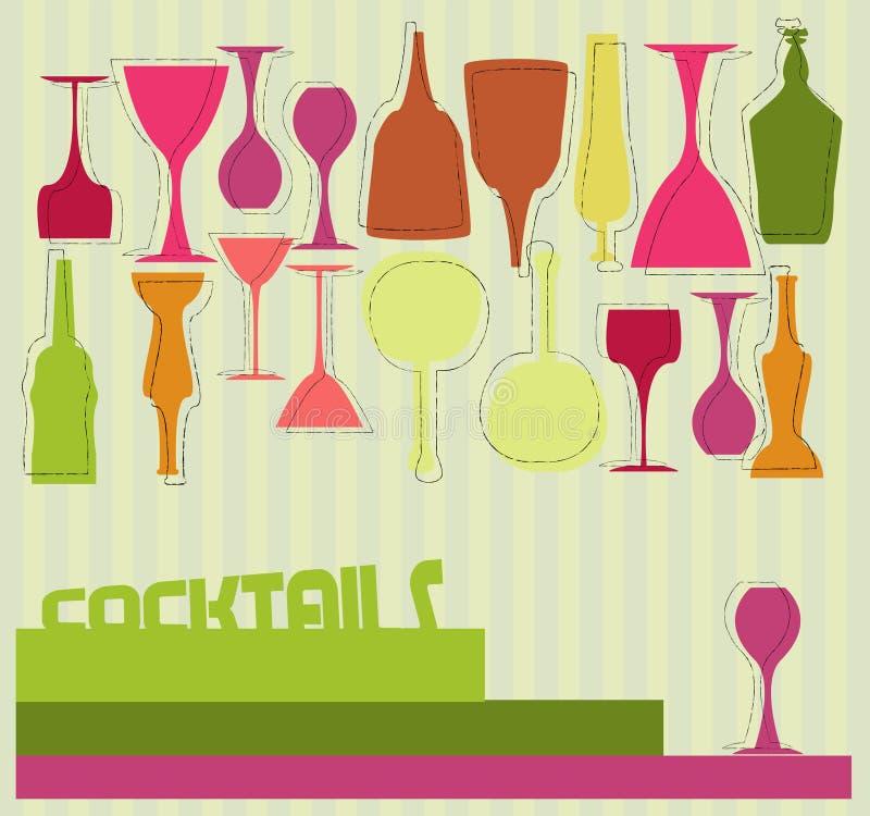 Cocktail card vector illustration