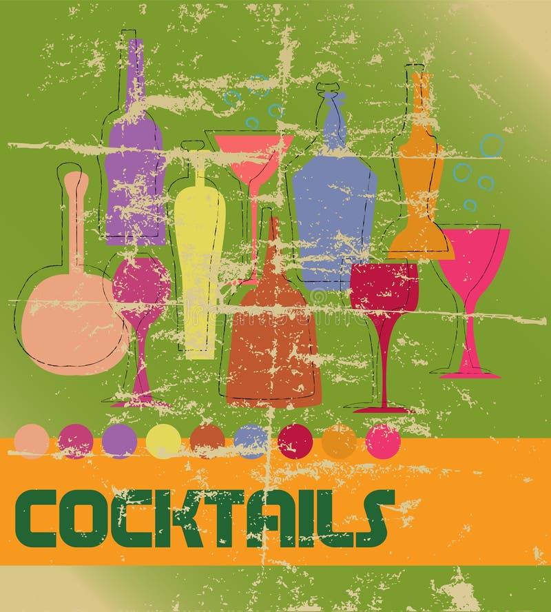cocktail card stock illustration