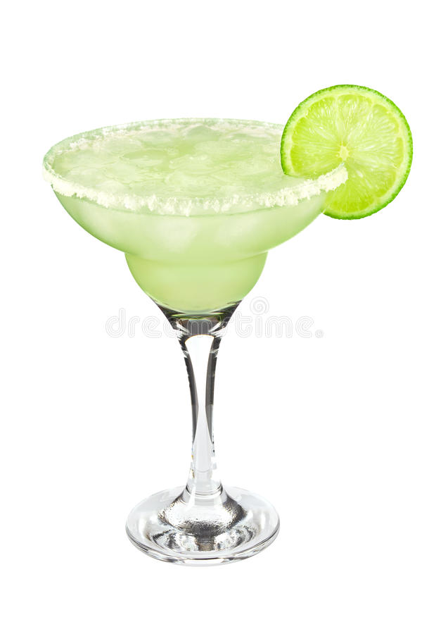 Cocktail classic Margarita with lime and salt. royalty free stock images