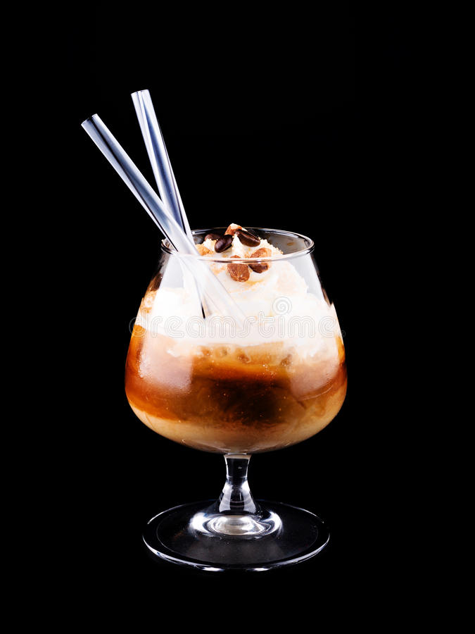 Cocktail with Coffee and whipped cream royalty free stock photography