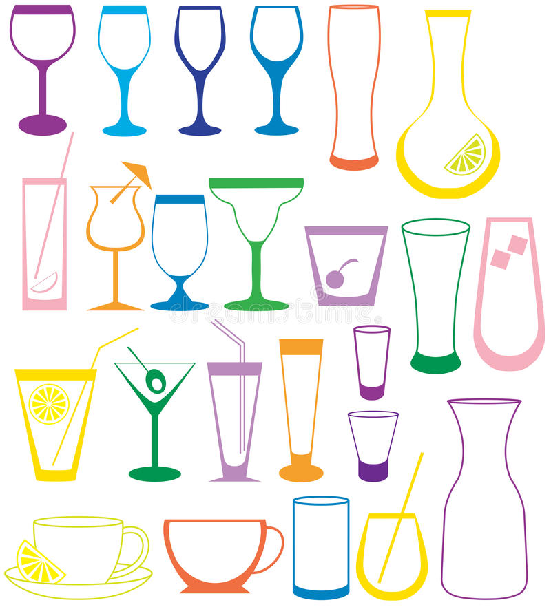 Download Cocktail Collection stock vector. Illustration of refreshment - 12233456