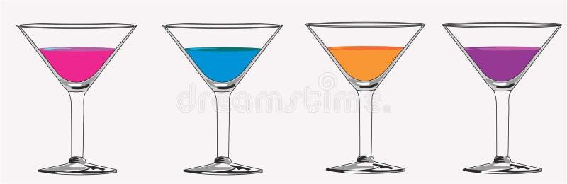 Cocktail coloridos de Matrini ilustração royalty free