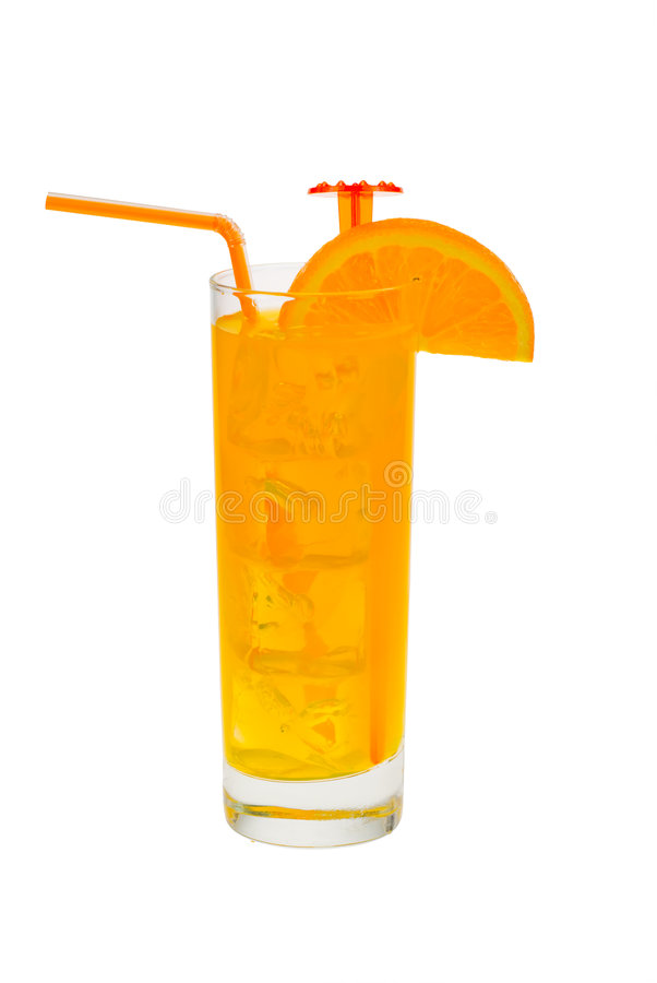 Cocktail com laranja imagem de stock