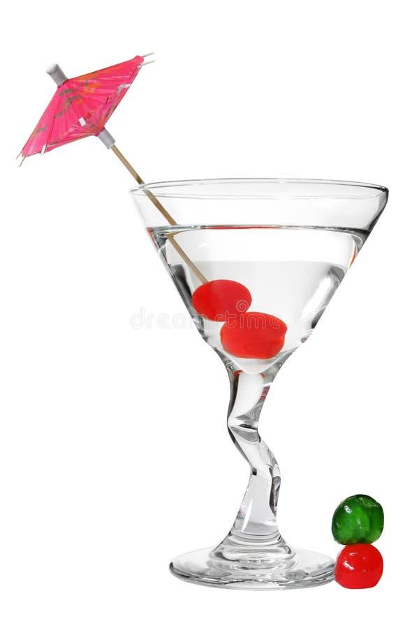 Cocktail con le ciliege immagini stock libere da diritti