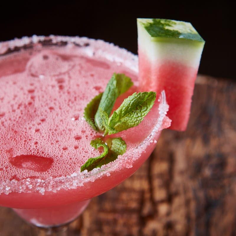 Cocktail congelé par pastèque image stock