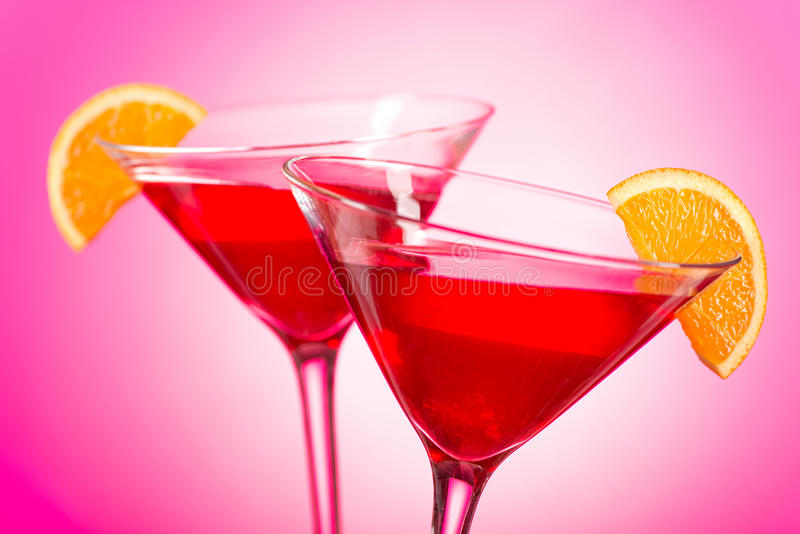 Cocktail cosmopolita fotografia stock
