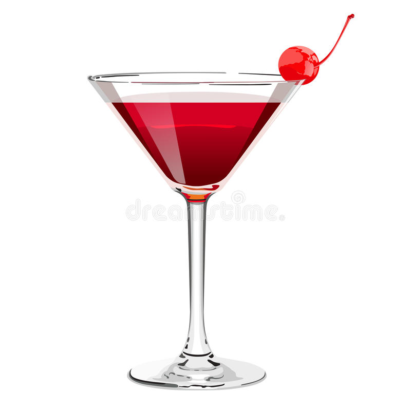 Cocktail cosmopolite illustration libre de droits