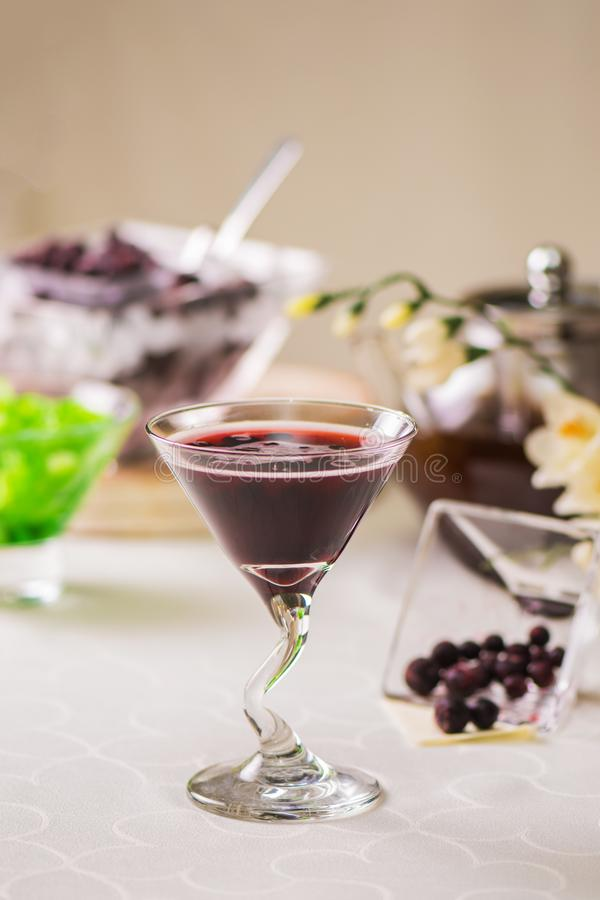 Cocktail from currant royalty free stock images