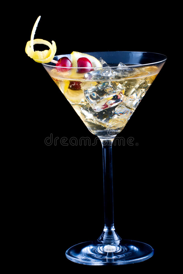 Cocktail d'éclaboussure de citron et de canneberge photos stock