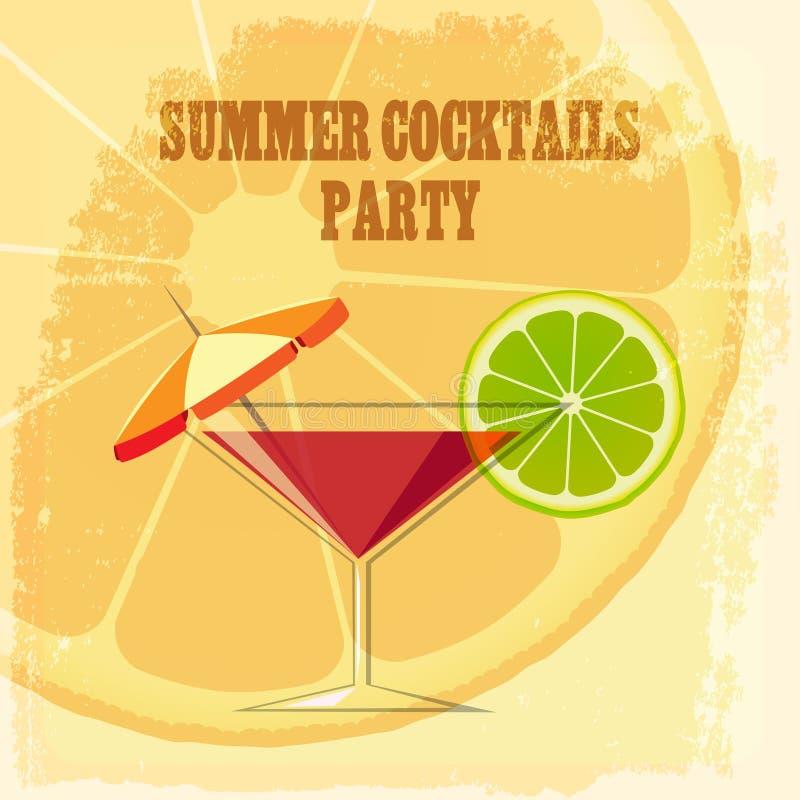 Download Cocktail d'été illustration de vecteur. Illustration du conception - 56481866