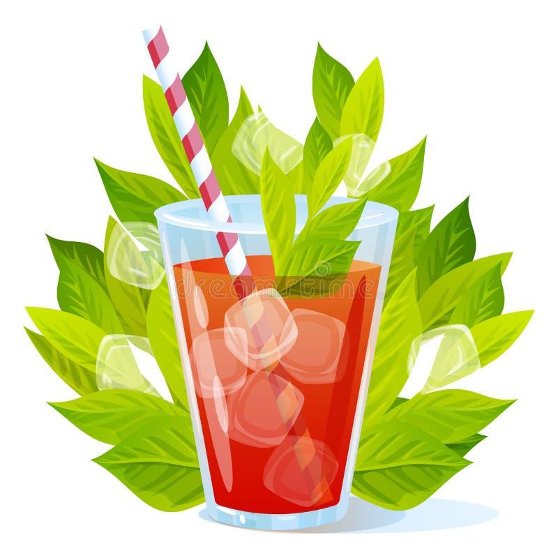 Cocktail d'été de vecteur sur un fond blanc illustration de vecteur