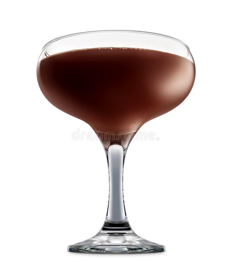 Cocktail d'alcool d'isolement sur le fond blanc photographie stock libre de droits