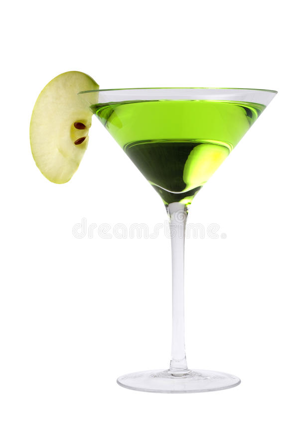 Cocktail d'Apple martini image stock