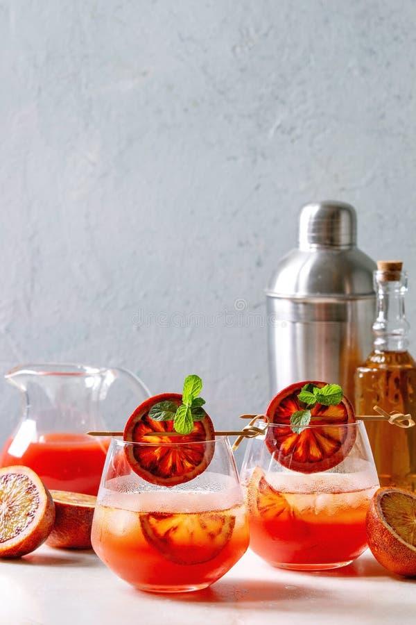 Cocktail d'orange sanguine photographie stock libre de droits