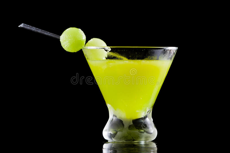 Cocktail da bola de Mellon foto de stock