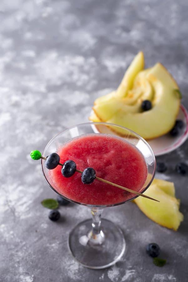 Cocktail da bola de Mellon fotos de stock