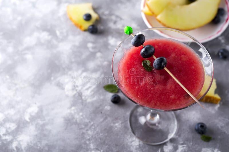 Cocktail da bola de Mellon imagem de stock royalty free