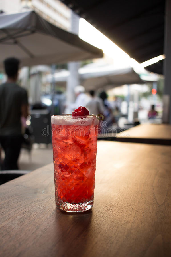 Cocktail da framboesa imagem de stock