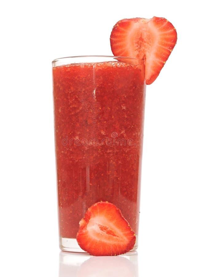 Cocktail da morango em um vidro foto de stock