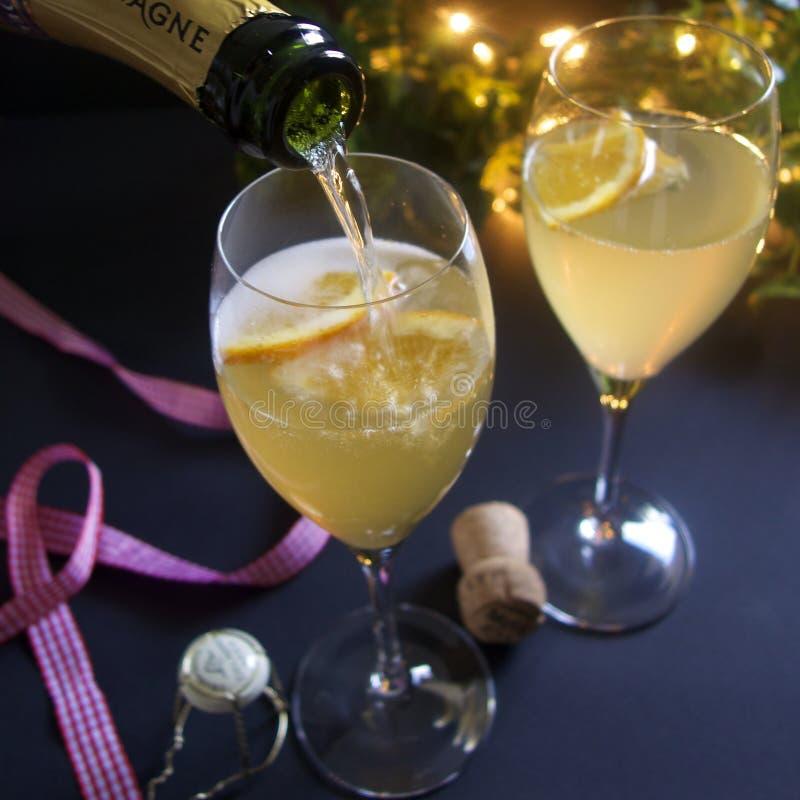 Cocktail de Champagne foto de stock