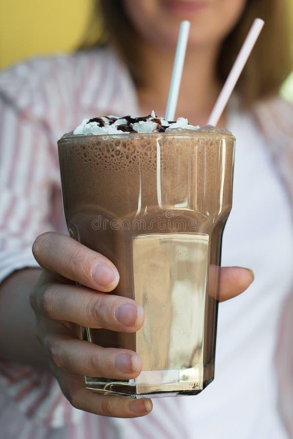 Cocktail de chocolat image stock