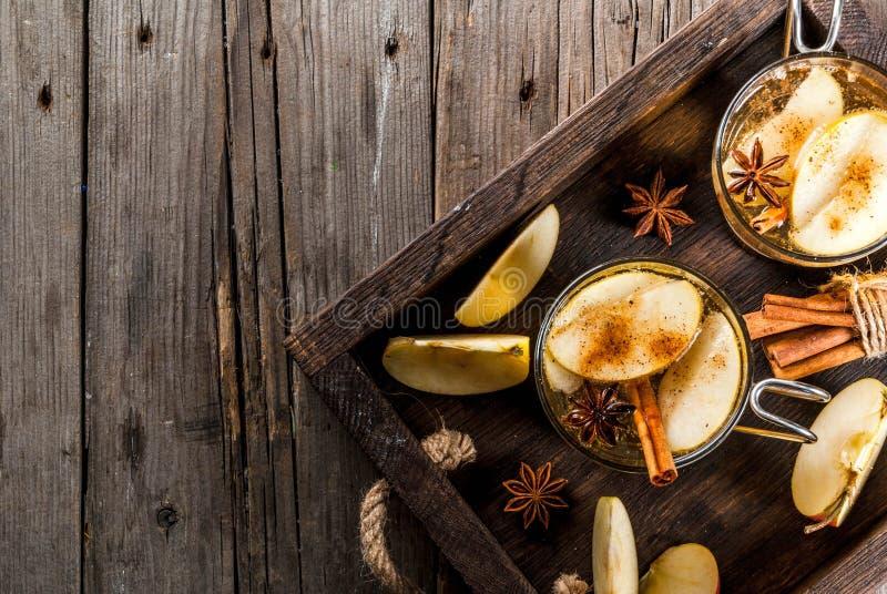 Cocktail de cidre d'Apple photographie stock libre de droits