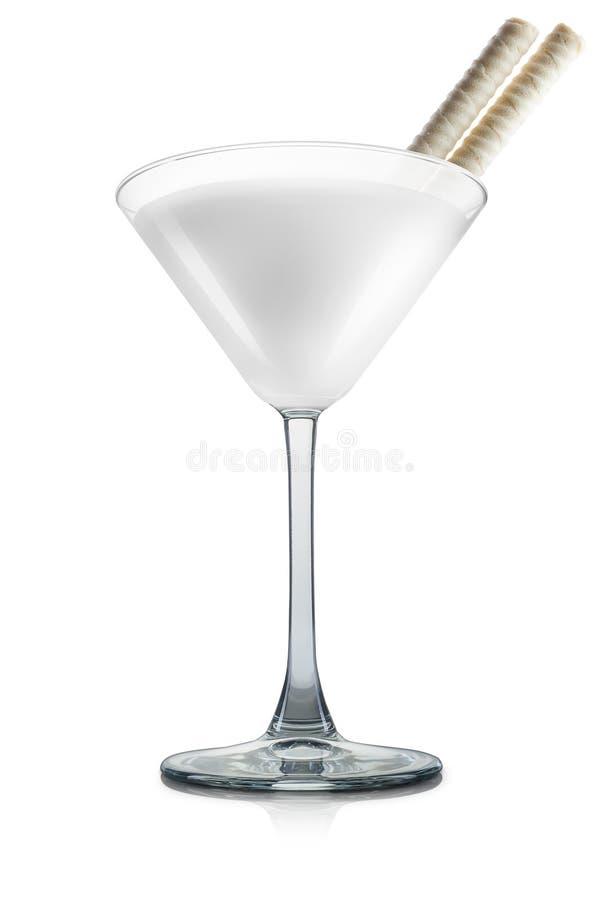 Cocktail de colada de Pina d'isolement sur le fond blanc images stock