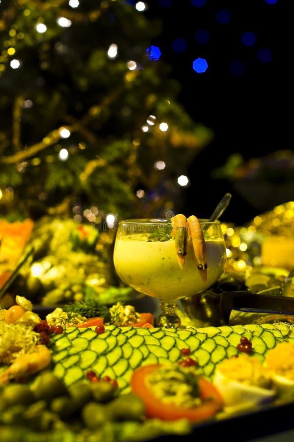 Cocktail de crevette et apéritifs images libres de droits