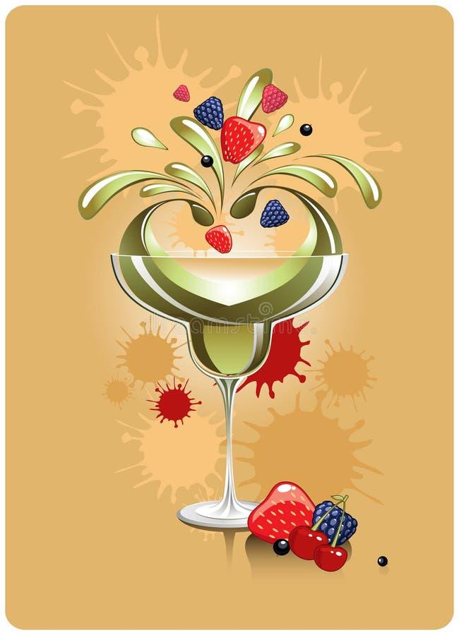 Cocktail de fruta ilustração royalty free