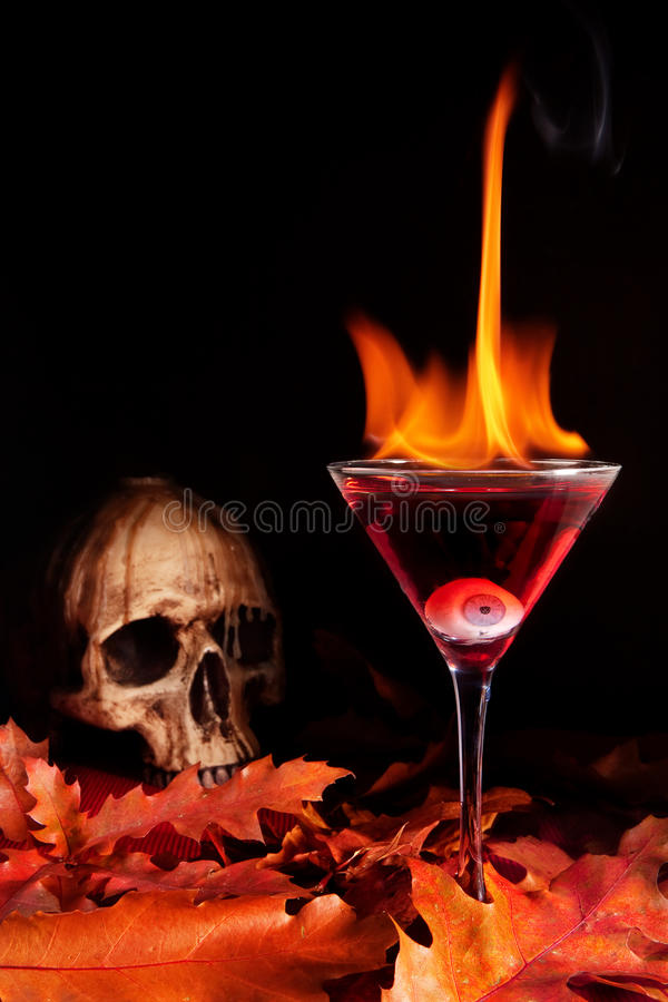 Cocktail de Halloween fotografia de stock