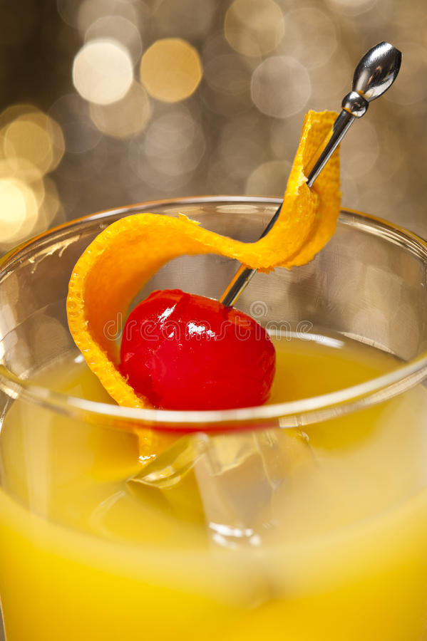 Cocktail de Harvey Wallbanger foto de stock