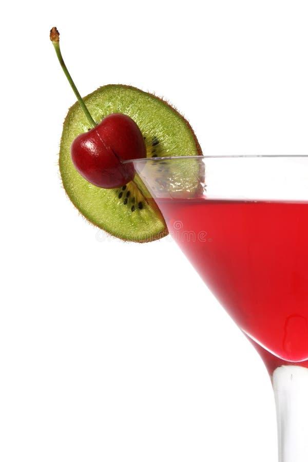 Cocktail de kiwi de cerise photographie stock libre de droits