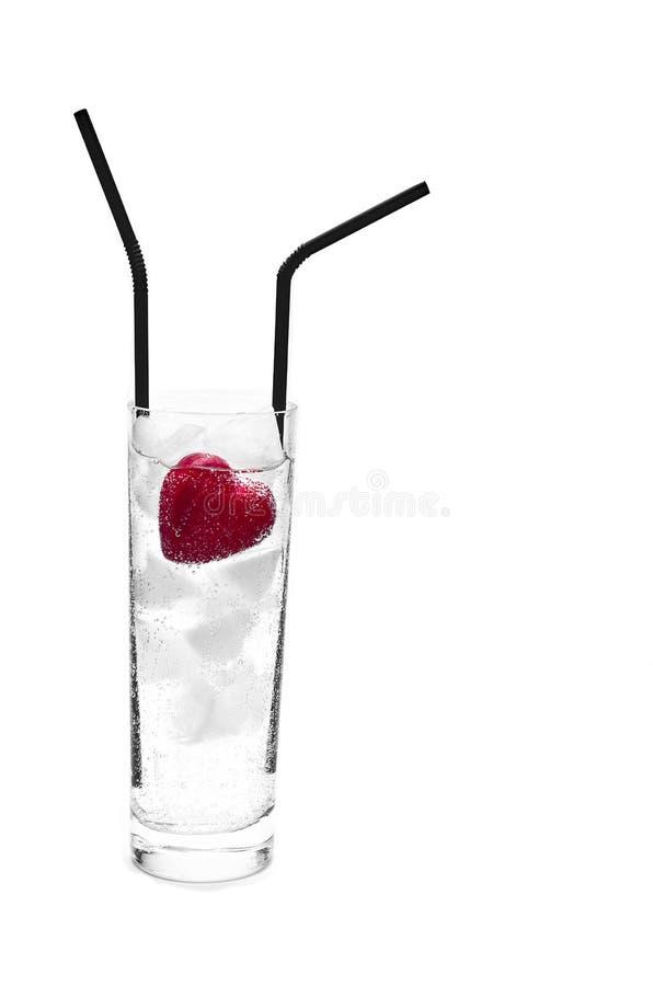 Cocktail de l'amour sur des roches de glace photos libres de droits