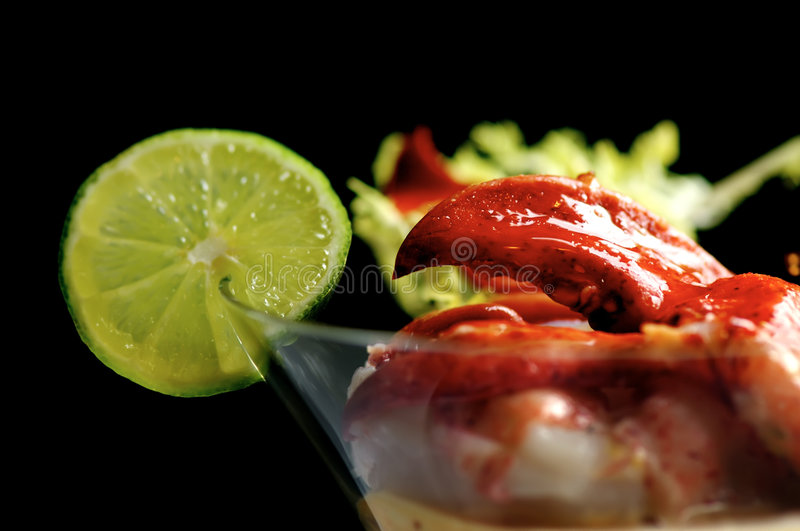 Cocktail De Langoustine Photo libre de droits