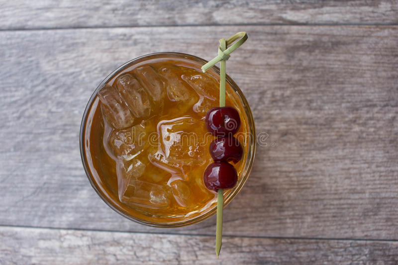 Cocktail de Manhattan foto de stock royalty free