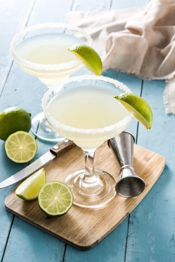 Cocktail de margarita avec la chaux en verre image libre de droits