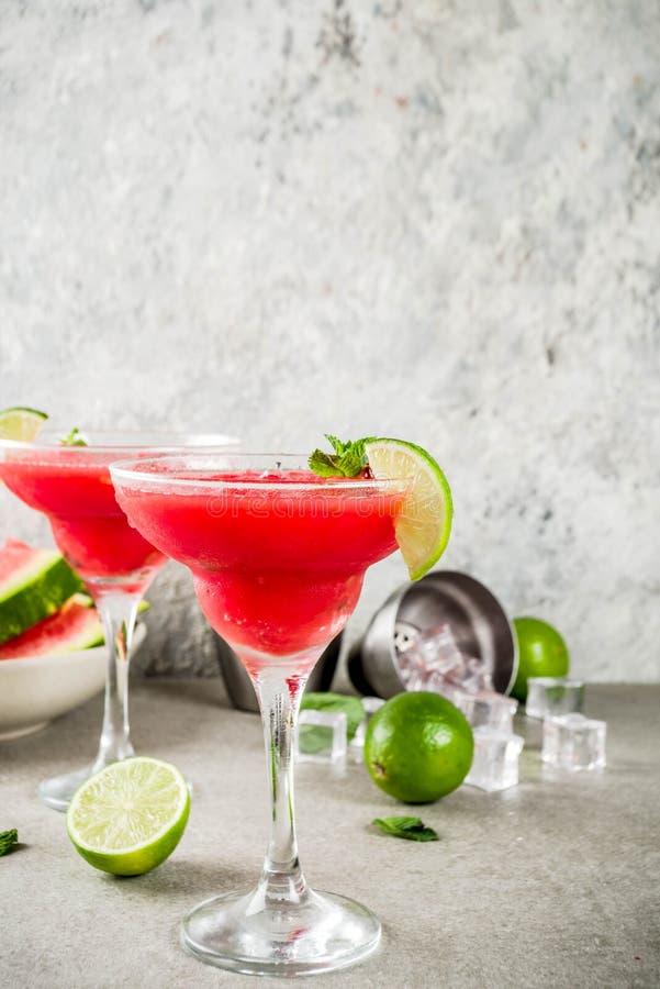 Cocktail de margarita de pastèque image libre de droits