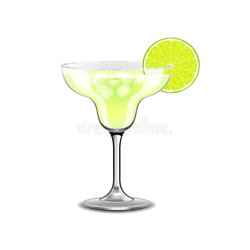 Cocktail de margarita sur le vecteur blanc illustration libre de droits