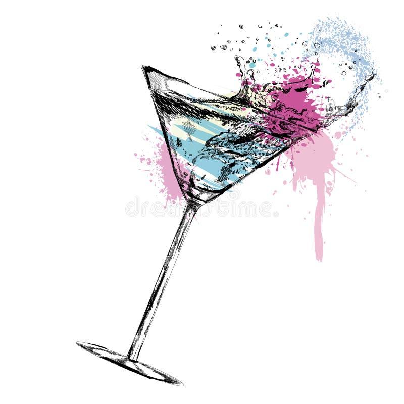 Cocktail de Martini avec. Illustration de vecteur illustration libre de droits