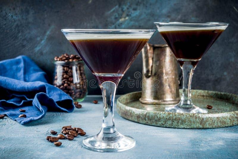 Cocktail de Martini d'expresso photos libres de droits