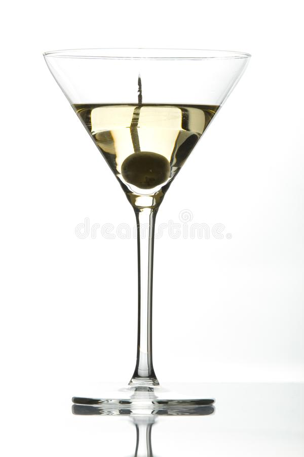 Cocktail de Martini dans un verre photos libres de droits