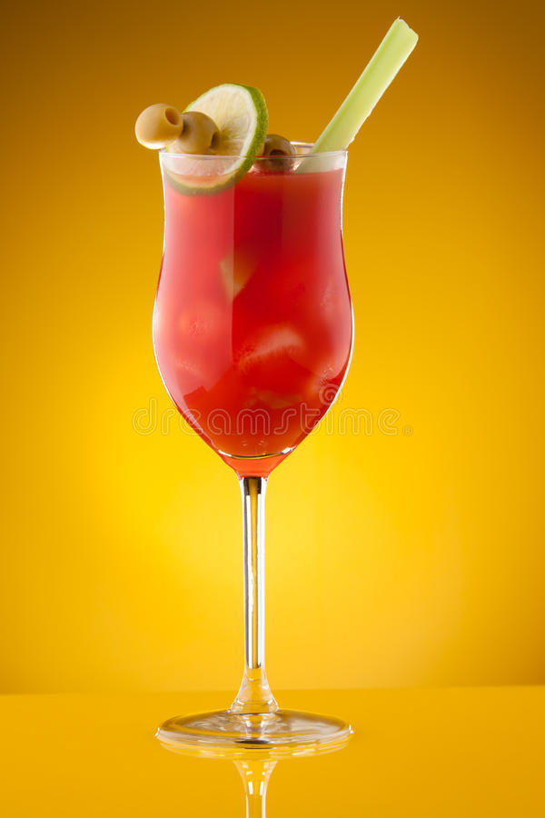 Cocktail de Mary sanglante photo libre de droits