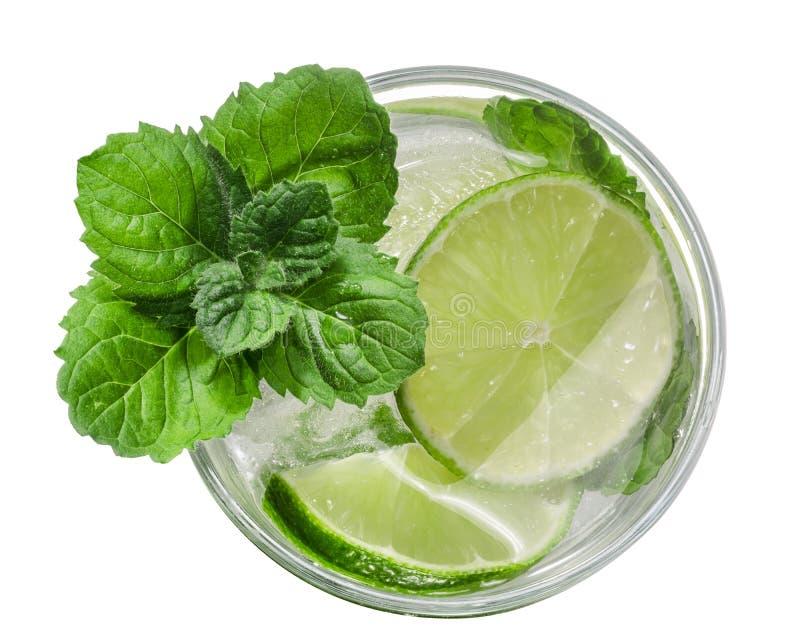 Cocktail de Mojito, vista superior, trajetos imagens de stock