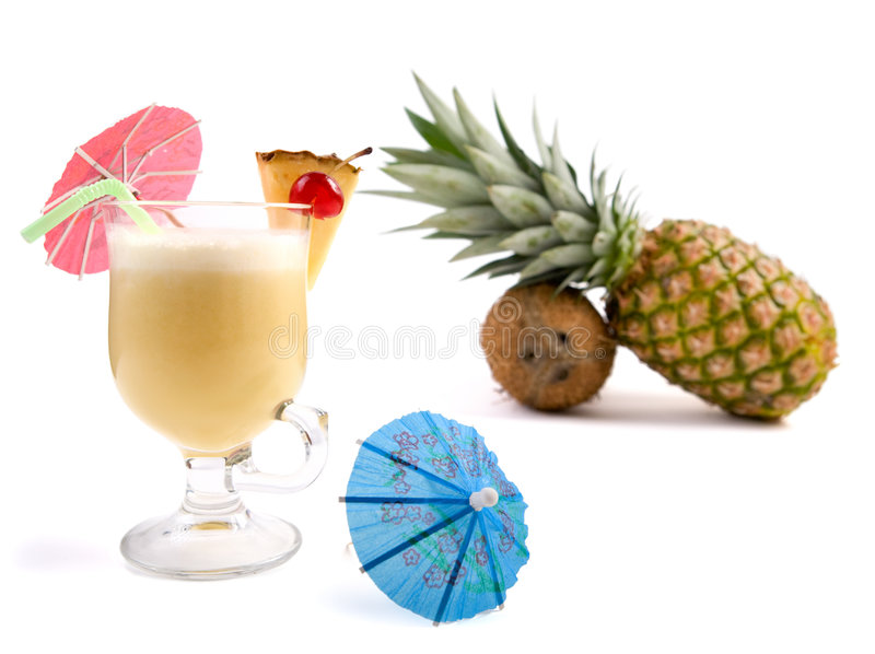 Cocktail de Pina Colada fotografia de stock royalty free